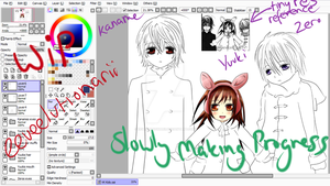 Vampire Knight Kids WIP (Work In Progress) by Eeveelutionarii