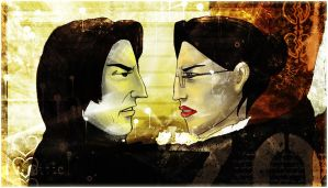 Snape and McGonagall by scullysayer