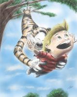 Calvin and Hobbes by DFonzie