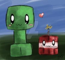 Minecraft: Creeper and TNT babbys by Sayuri-Amaya