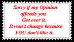 Opinion Stamp by lady-warrior