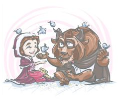 Beauty and the Beast by DoodleWEE