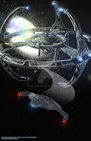 USS Resilient leaves DS9 by calamitySi