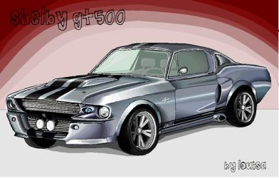 Mustang GT500 in MS Paint by Louisa911