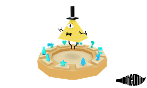 Bill Cipher - Gravity Falls [Low Poly] by WFpeonix