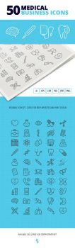50 Medical Business Icons by survivorcz