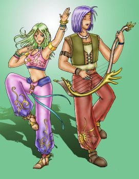 Dancers colored by S0rce