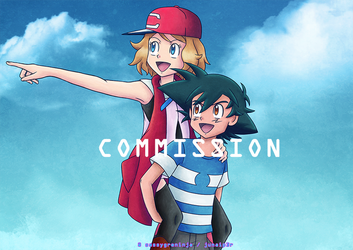 Commission: Amourshipping by sassygreninja