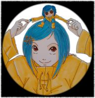 Coraline and Little Coraline by DanyDanja