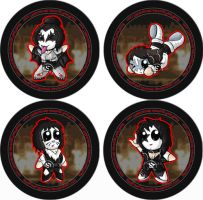 KISS Badges by RedPawDesigns