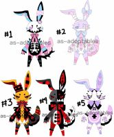 Corrupted bunny adoptable batch CLOSED by AS-Adoptables