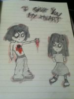 I Give You My Heart by Bloodonmyhands25