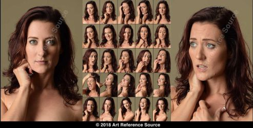 Stock:  Jessica Lynne 25 Expressions by ArtReferenceSource