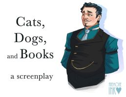 Cats, Dogs, and Books by AmericanDreaming
