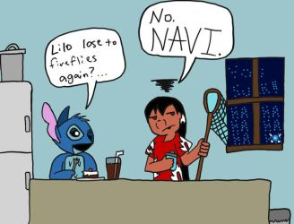 Score: Lilo 0, Navi 1 by SaintHeartwing