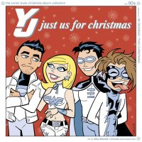 Young Justice Just Us For Christmas by BillWalko