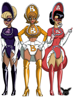 Diapered villainesses by PikaTrooper123