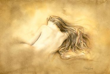 Ruw umber nude by ForestEdgeFineArt
