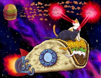 Taco cats in space by Alex-Cooper