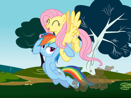 Dash and Fluttershy (Scene) by Really-unimportant