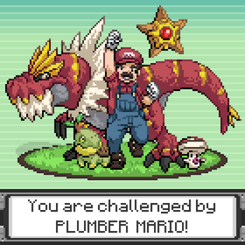 Pokemon Trainer: Mario by Olsonmabob