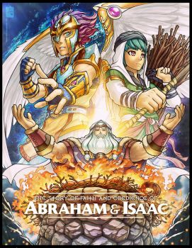 Art Poster: Abraham and Isaac by jonah-onix