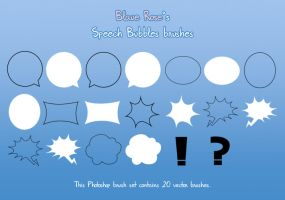 Speech Bubbles Brushes by Blaue-Rose