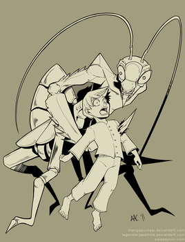 Jason and the Mantis by MPsai