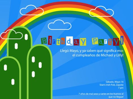 Invitacion a mi cumple by lillyanka