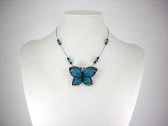 Bold Butterfly Necklace by Lady-Blue