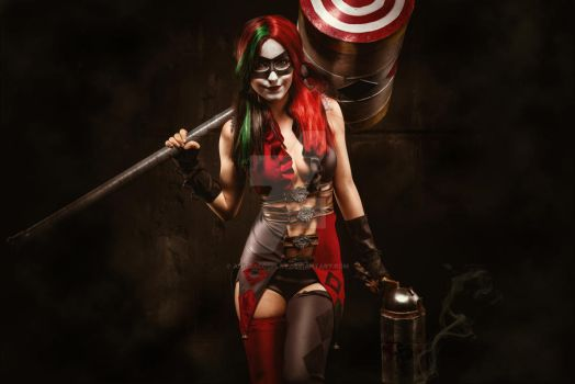 Harley Quinn Cosplay Injustice version by AnissaCosplay