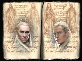 LOTR Sindarin King and Son by Vampyre333