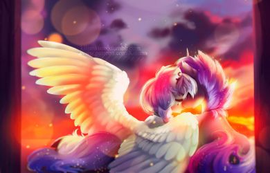 when the sun sets we're both the same by aprillfool