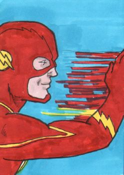The Flash Sketch Card - ECCC 2018 by pjperez