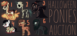 HALLOWEEN PONIES AUCTION - 5 OPEN by XP0NY