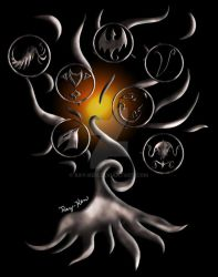 The Tree of Kingdoms (T-Shirt Design) by Ray-Ken