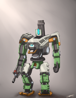 [Sketch] Overwatch - Bastion by Teamkill4