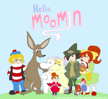 Hello Moomin - Title Screen by Genolover