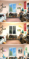 Nuzlocke VN Collab: Dorm rooms by Antarija