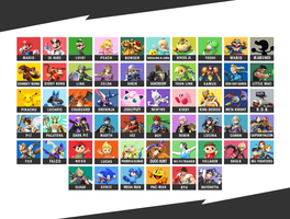 Super Smash Bros. Wii U/3DS - Final Roster by Kaiology