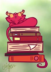 Book Dragon by LightningMcTurner