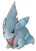 Gible -- aka TORPEDOMON by nattychan