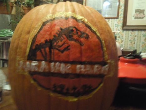 Jurassic Park Pumpkin by Total12