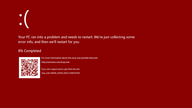 Red Screen Of Death Windows 10 by FlamePrincess3535