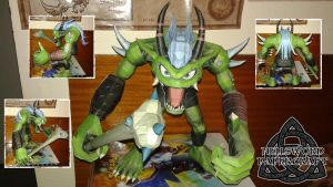 Digimon Ogremon Papercraft COMPLETE by HellswordPapercraft