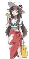 Pokemon Trainer Leaf - Sun and Moon Better Quality by 64smashmaster3ds