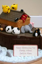 Noahs Ark Cake Close up by elainewhy