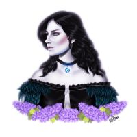 Yennefer Of Vengerberg by ElyGraphic