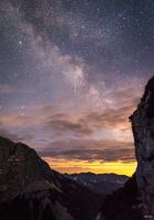 Clouds and stars in the Alps by BerarAdrian