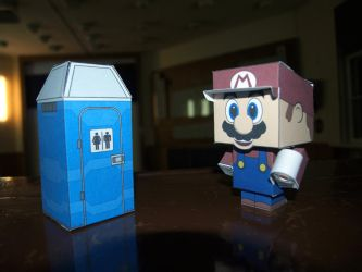 Mario goes to the toilet... by matt2106